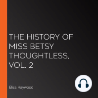 The History of Miss Betsy Thoughtless, Vol. 2