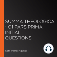 Summa Theologica - 01 Pars Prima, Initial Questions