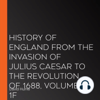History of England from the Invasion of Julius Caesar to the Revolution of 1688, Volume 1F