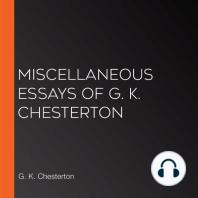Miscellaneous Essays of G. K. Chesterton