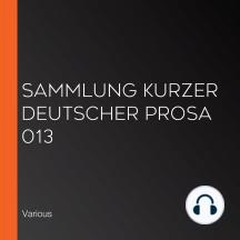 Sammlung kurzer deutscher Prosa 013