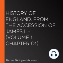 History of England, from the Accession of James II - (Volume 1, Chapter 01)