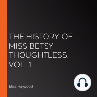 The History of Miss Betsy Thoughtless, Vol. 1