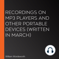 Recordings on MP3 players and other portable devices (Written in March)
