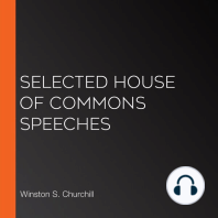 Selected House of Commons Speeches