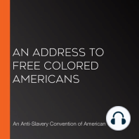 An Address to Free Colored Americans