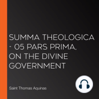 Summa Theologica - 05 Pars Prima, On the Divine Government
