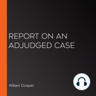 Report On an Adjudged Case