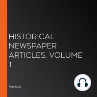 Historical Newspaper Articles, Volume 1