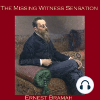 The Missing Witness Sensation