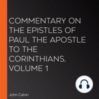 Commentary on the Epistles of Paul the Apostle to the Corinthians, Volume 1