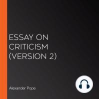 Essay on Criticism (version 2)