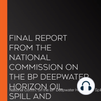 Final Report from the National Commission on the BP Deepwater Horizon Oil Spill and Offshore Drilling
