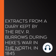 Extracts from a Diary Kept by the Rev. R. Burrows during Heke's War in the North, in 1845