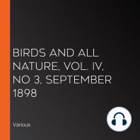 Birds and all Nature, Vol. IV, No 3, September 1898