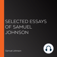 Selected Essays of Samuel Johnson