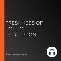 Freshness of Poetic Perception