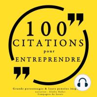 100 citations pour entreprendre
