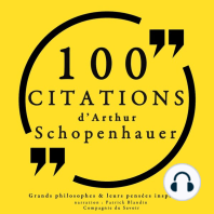 100 citations d'Artur Schopenhauer
