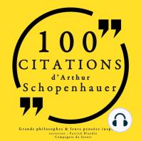 100 citations d'Artur Schopenhauer