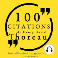 100 citations de Henry David Thoreau