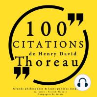 100 citations de Henry David Thoreau