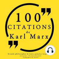 100 citations de Karl Marx