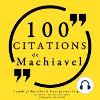 100 citations de Machiavel