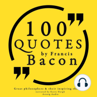 100 Quotes by Francis Bacon