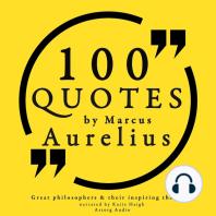100 Quotes by Marcus Aurelius