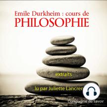 Durkheim: Cours de philosophie: Classique de philosophie