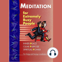 Meditation: for Extremely Busy People - Part I: For living and loving in turbulent times