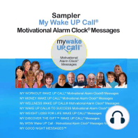 Sampler My Wake UP Call® Motivational Alarm Clock® Messages and My Good Night Messages ™
