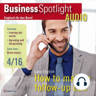 Business-Englisch lernen Audio - Folgetelefonate