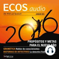 Spanisch lernen Audio - Vorsätze und Ziele fürs neue Jahr