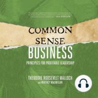 Common-Sense Business