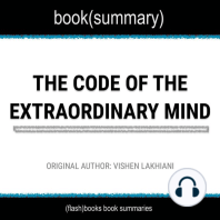 Book Summary of The Code of The Extraordinary Mind by Vishen Lakhiani