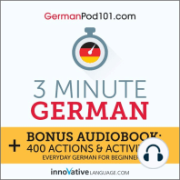 3-Minute German: Everyday German for Beginners