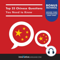 Top 25 Chinese Questions You Need to Know