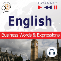 English. Business Words & Expressions - Listen & Learn to Speak (Proficiency Level