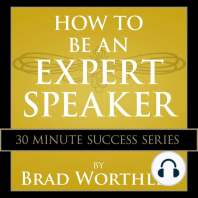 How to be an Expert Speaker