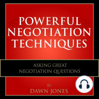 Powerful Negotiation Techniques: Asking Great Negotiation Questions