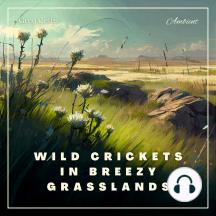 Wild Crickets in Breezy Grasslands