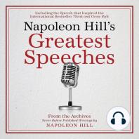 Napoleon Hill's Greatest Speeches