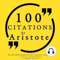 100 citations d'Aristote