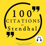 100 citations de Stendhal