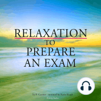 Relaxation to prepare for an exam