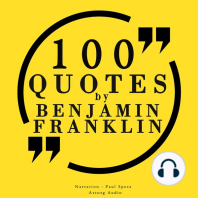100 Quotes by Benjamin Franklin