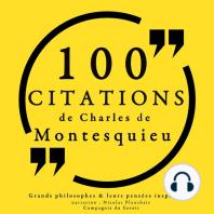 100 citations de Montesquieu