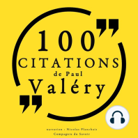 100 citations de Paul Valéry